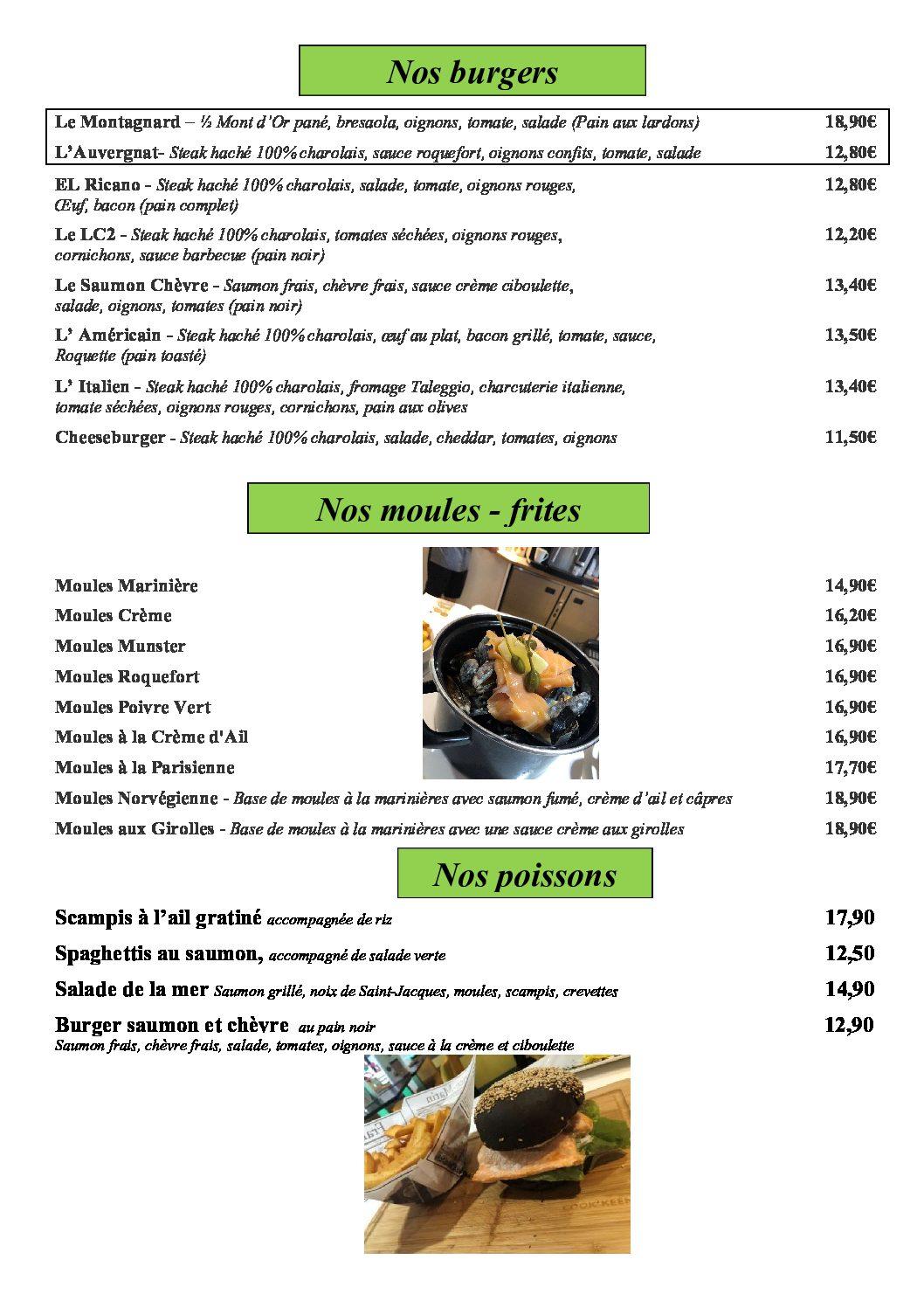 page 12 - les burgers et moules