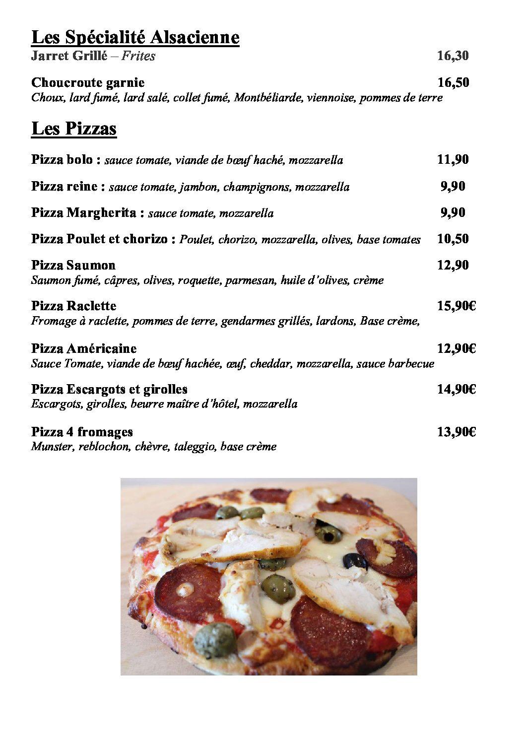 Carte emporter et livraison page 2 pizzas