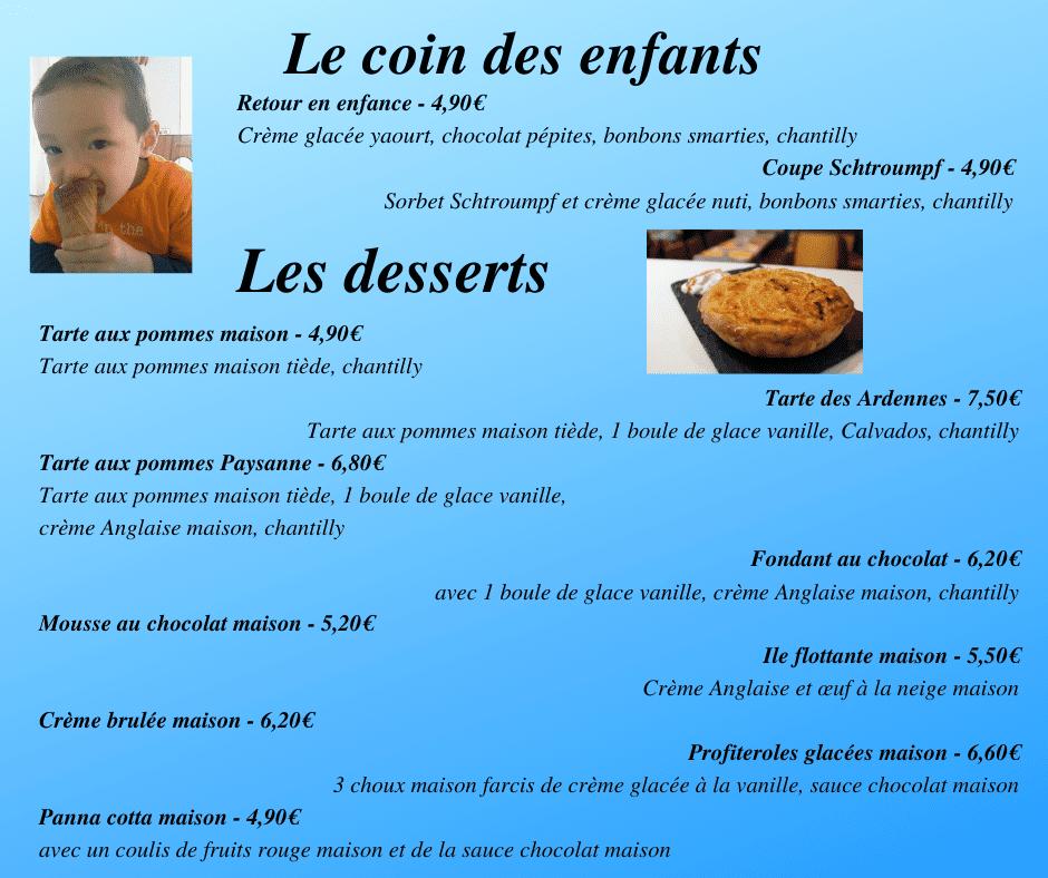 Carte desserts 3