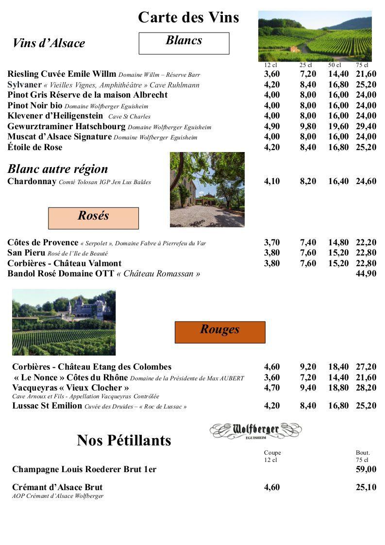 page 16 - Carte des Vins