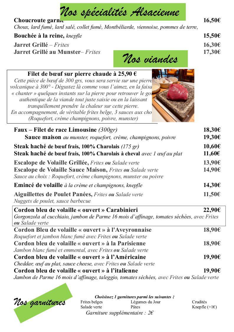 page 10 - viandes et spécialitées alsacienne
