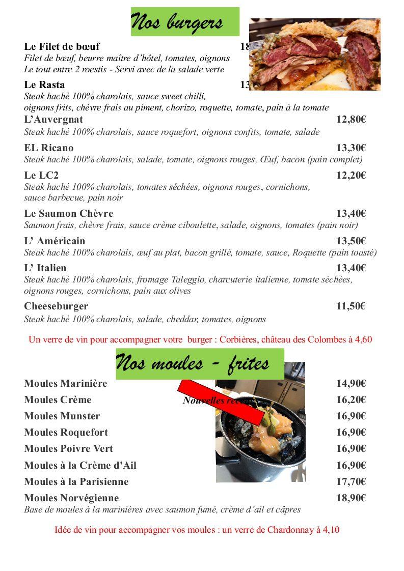 page 11 - les burgers et moules
